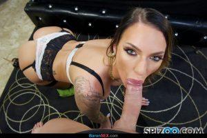 Hot pornstar Juelz Ventura gets on her knees to blow a huge cock POV style